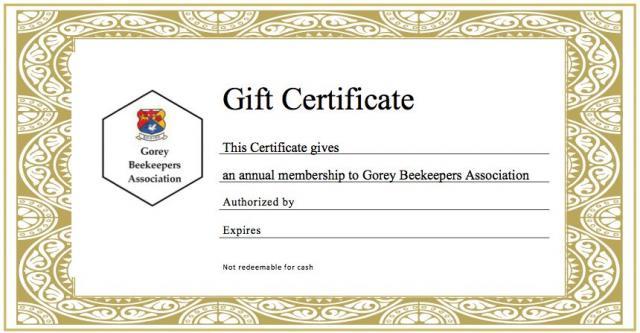 Gift Certificate  Gift Voucher Format